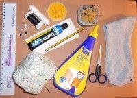 Materiales para hacer un títere muppet