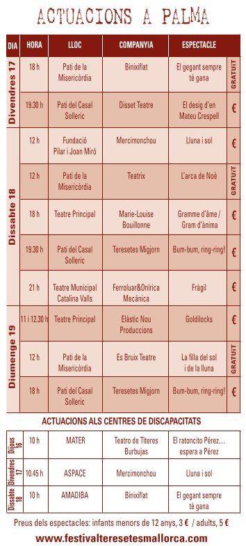 15 Festival de Teresetes-Programa