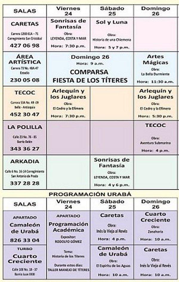 Programacion Titerefiesta Colombia-2