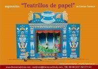 Cartel exposición Teatrillos de papel