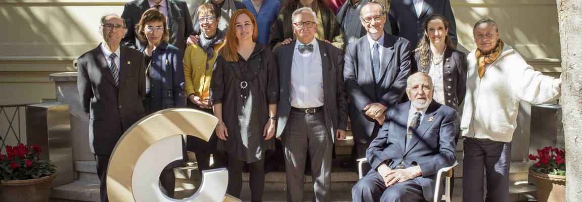 Los galardonados con los Premis Nacionals de Cultura y los miembros del plenario del CoNCA