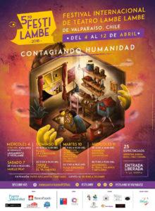Cartel y programa del Festilambe 2018 en Valparaíso, Chile.