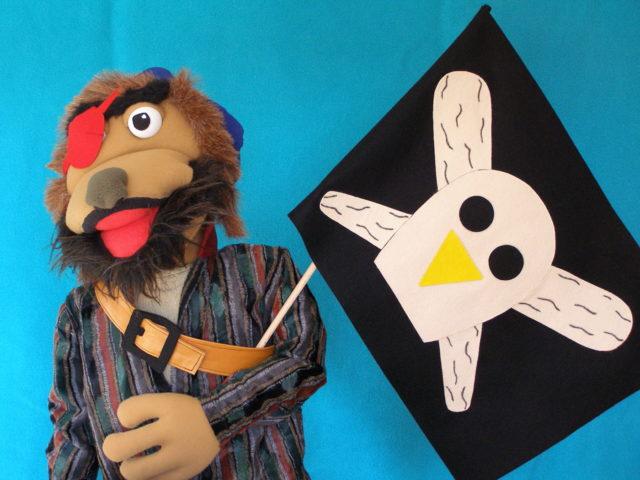 Marioneta pirata de Marimba Marionetas