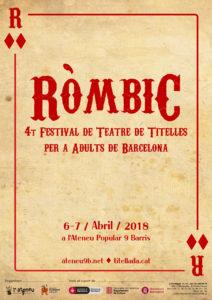 Cartel del Ròmbic 2018. Barcelona
