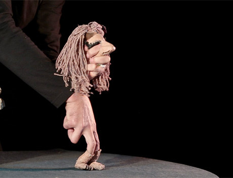 """Marioneta de """"Vida"""", de Javier Aranda."""