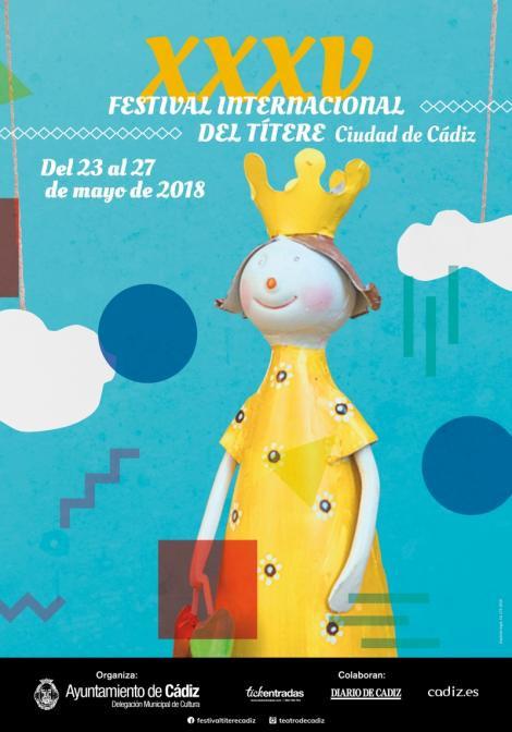 Cartel del XXXV Festival Internacional del Títere de Cádiz