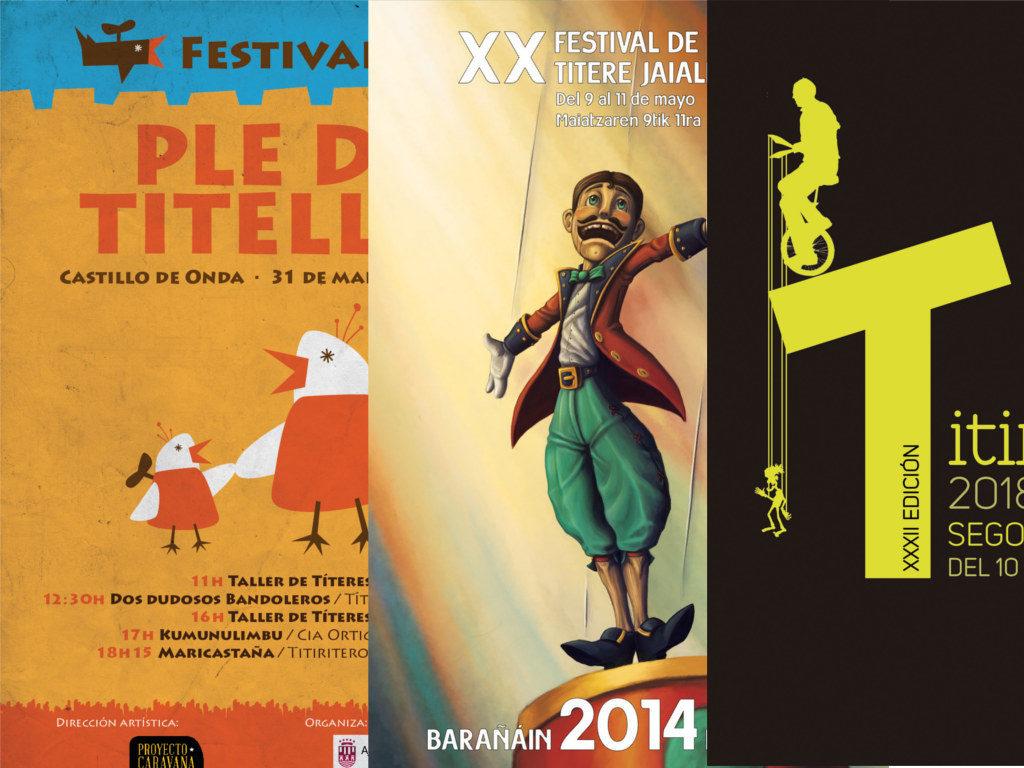 Carteles de festivales de teatro de títeres