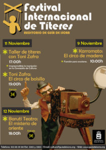Cartel del Festival Internacional de Títeres Guía de Isora
