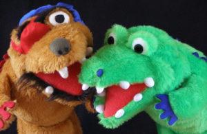 Marionetas de El Mapa del Tesoro, de Marimba Marionetas.